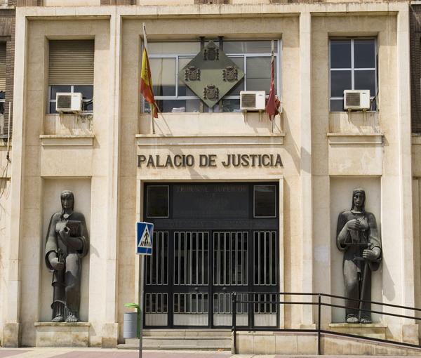 Resultado de imagen de palacio de justicia de murcia