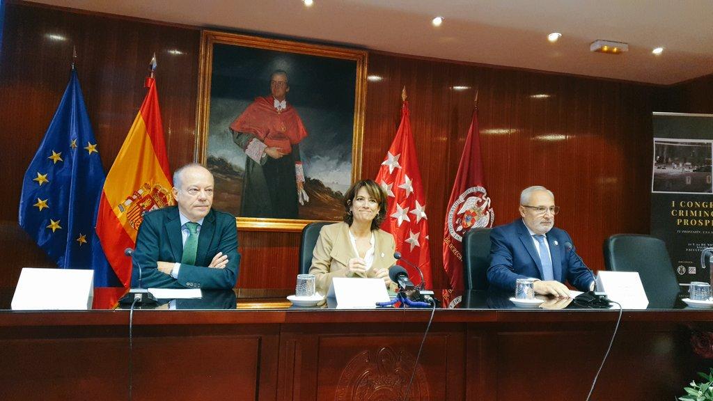 """""""El Ministerio de Justicia estudiará incluir a los criminólogos en la Función Pública"""" @ColegioCrimMad #CongresoCrimProspectiva"""
