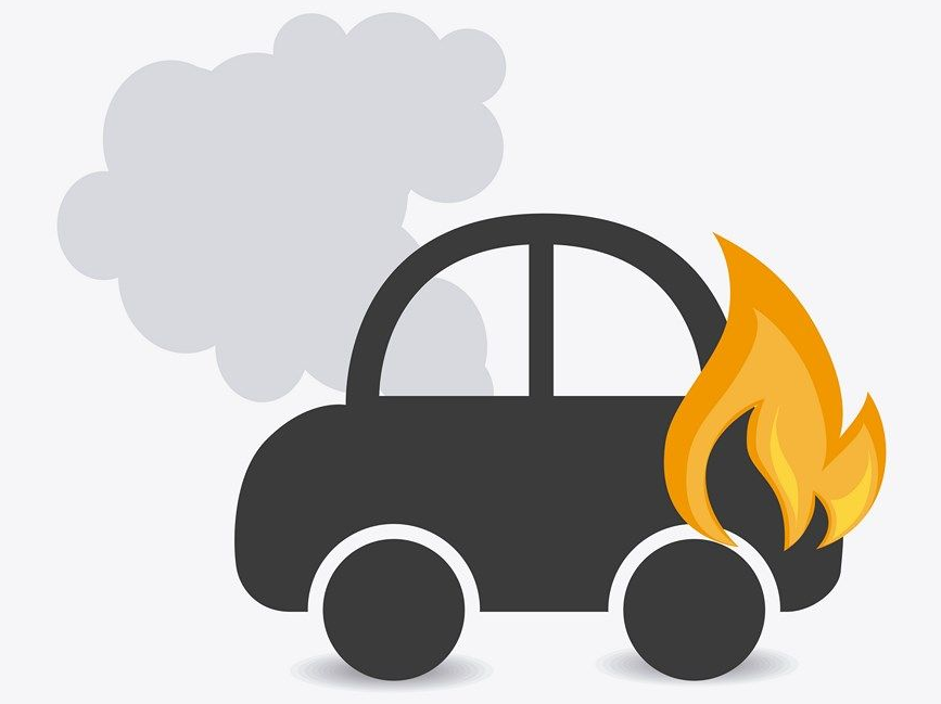 icono incendio vehiculo