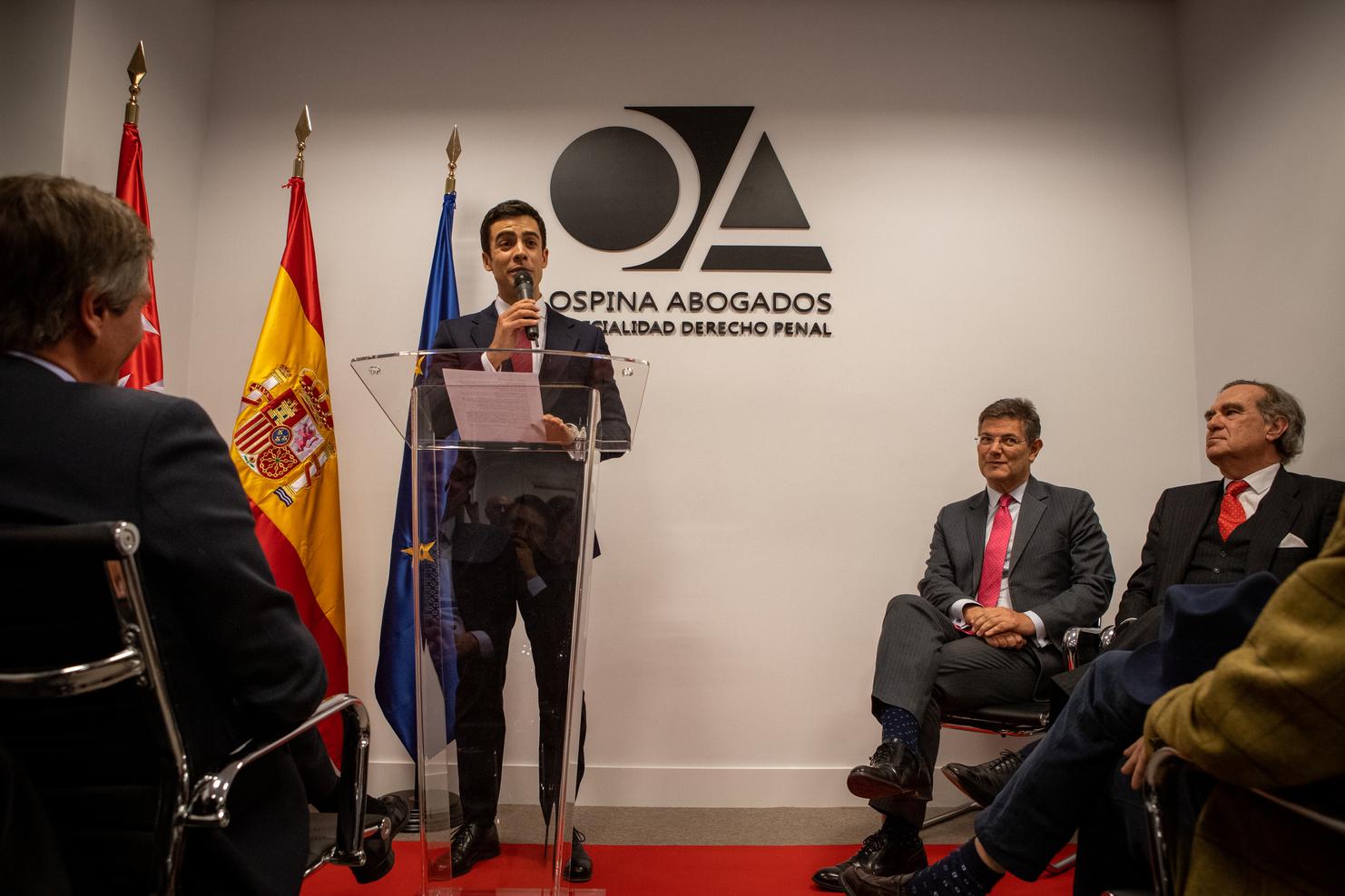 """Juan Gonzalo Ospina inaugura en Madrid la nueva sede Ospina Abogados: """"…esta será la casa del derecho de defensa"""""""