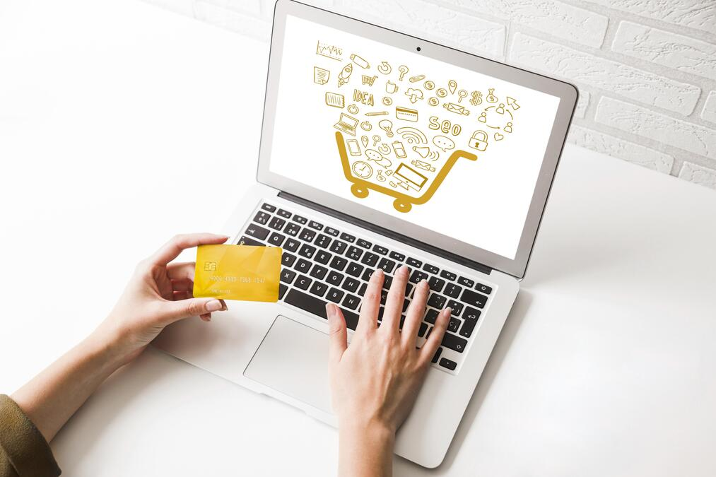 high-angle-online-shopping-on-laptop